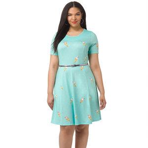 Modcloth Triste 1x Malt Shop Icecream Print Dress